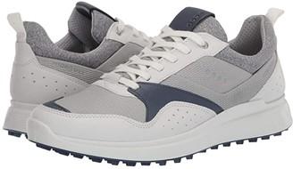 Ecco Golf S-Casual Hydromax (White/True Navy) Men's Golf Shoes