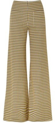 Hellessy Luc Houndstooth Tweed Wide-leg Pants