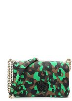 Versace Camouflage Leopard Print Palazzo Shoulder Bag