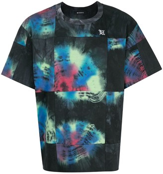 Misbhv abstract print panelled T-shirt