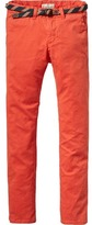 Scotch & Soda Belted Garment Dyed Chinos | Regular Slim Fit