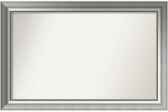 "Amanti Art Wall Mirror,, Vegas Burnished Silver Wood, 41""x27"""