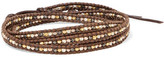 Chan Luu Sterling Silver Beaded Leather Bracelet