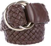M Missoni Woven Leather Belt