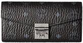 MCM Patricia Visetos Wallet on a Chain (Black) Wallet Handbags