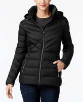 MICHAEL Michael Kors Petite Ruched Hooded Packable Down Coat