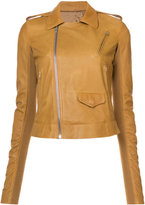 Rick Owens multi-pockets biker jacket - women - Lamb Skin/Cupro/Viscose/Wool - 42