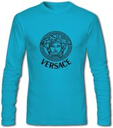 Versace Logo For Men's Printed Long Sleeve Cotton Tshirt XXX-Large Green