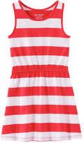 Joe Fresh Toddler Girls' Stripe Dress, Red (Size 5)