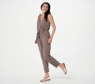 AnyBody Tall Cozy Knit V-Neck Surplice Jumpsuit