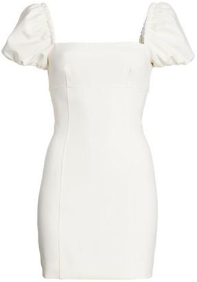 Cinq à Sept Havana Puff-Sleeve Mini Dress
