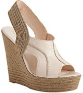 light natural leather 'Ildred' platform wedge espadrilles