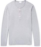 Handvaerk - Mélange Pima Cotton-jersey Henley Pyjama Shirt