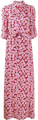 Diane von Furstenberg Amina wrap floral print silk dress