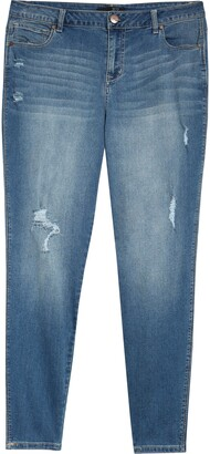 1822 Denim Distressed Ankle Jeans