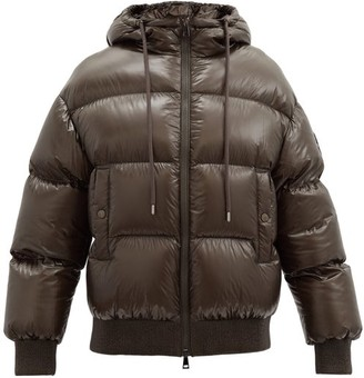 Moncler Runio Down-filled Quilted-shell Jacket - Khaki