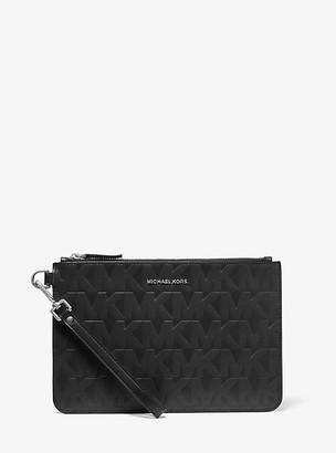 Michael Kors Medium Embossed Leather Slim Pouch