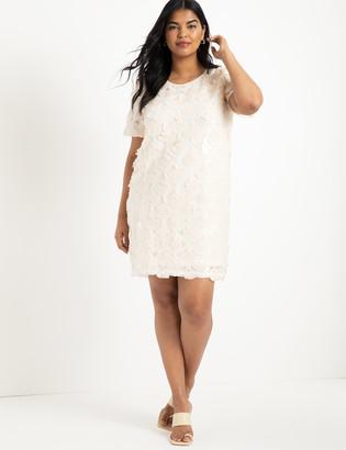 ELOQUII Textural Sequin Dress