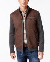 Tasso Elba Men's Zip-Front Faux-Suede Jacket, Only at Macy's