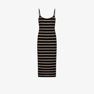Ninety Percent Ribbed striped dress