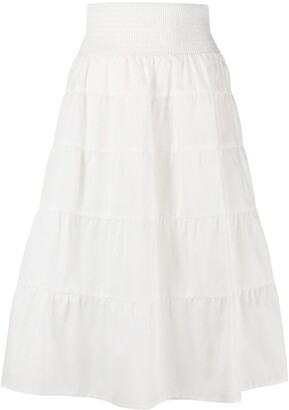 Prada tiered knee-length skirt