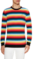 Love Moschino Wool Striped Crewneck Sweater