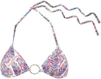 Melissa Odabash Miami Ring-embellished Printed Triangle Bikini Top