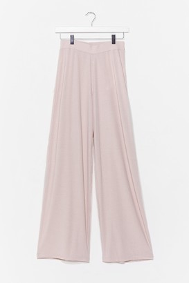 Nasty Gal Womens Let Loose Wide-Leg Lounge trousers - Cream - 10, Cream