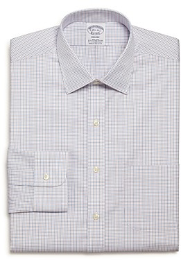Brooks Brothers Tattersall Check Regular Fit Dress Shirt