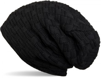 styleBREAKER Warming Braided Pattern fine Knit Slouch Beanie with an Ultra Soft Fleece Lining Unisex 04024058