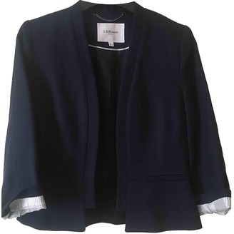 LK Bennett Navy Linen Jacket for Women