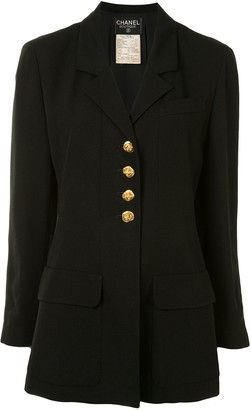 Chanel Pre Owned 1993 Buttoned Slim-Fit Jacket