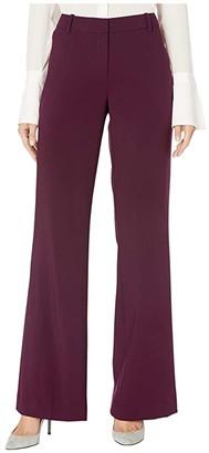 Calvin Klein Wide Leg Pants (Aubergine) Women's Casual Pants