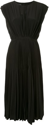 Giambattista Valli Elasticated-Waist Pleated Dress