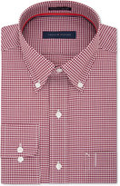 Tommy Hilfiger Men's Classic/Regular Fit Red Check Dress Shirt