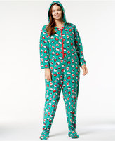 Hello Kitty Plus Size Snuggle Up Printed Hooded Jumpsuit