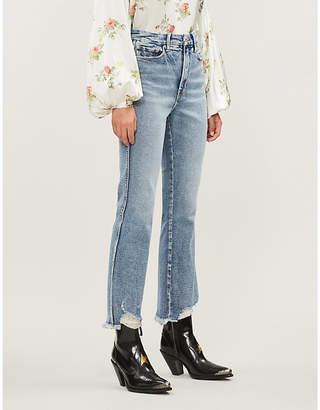 Good American Good Waist distressed high-rise jeans