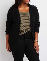 Charlotte Russe Plus Size Fuzzy Oversized Cardigan