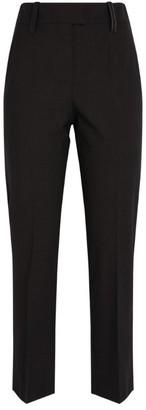 Brunello Cucinelli High-Waist Cigarette Trousers