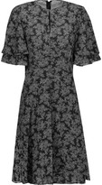Michael Kors Pleated printed silk crepe de chine dress