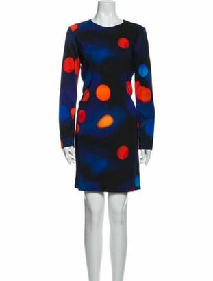 Victoria Beckham Printed Mini Dress Blue
