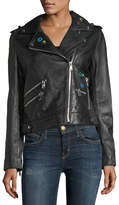 Sam Edelman Don't Say No Grommet Leather Jacket