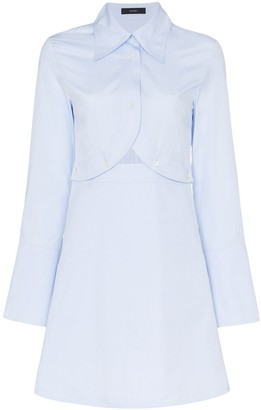 Ellery Double Helix cutout cotton mini dress