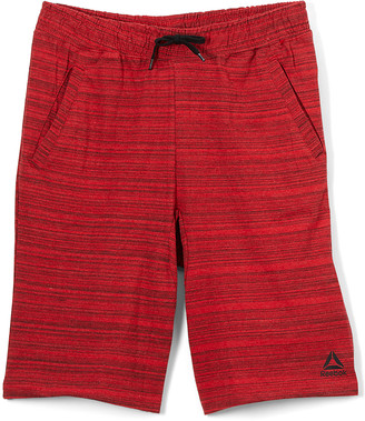 Reebok Boys' Active Shorts RED - Red Heather Space Dye Weekender Shorts - Toddler & Boys