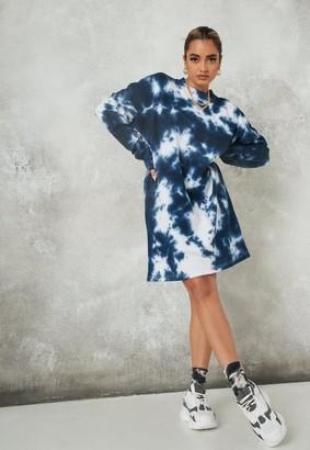 Missguided Tie Dye Oversized Sweater Dress