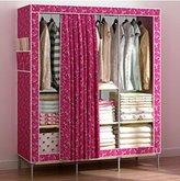 Generic New Portable Triple Oxford Cloth Wardrobe Closet Folding Clothing Storage Organizer Garment Armoire Rack