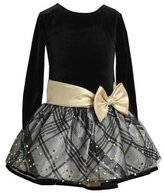 Bonnie Jean Little Girls' Plaid Hipster Dress (Gold)