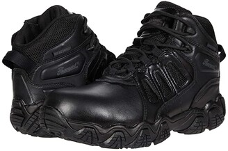 Thorogood Crosstrex Side Zip Mid Waterproof Comp Toe Polished (Black) Men's Shoes