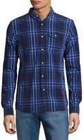 Superdry Men's Plaid Cotton Button-Down Shirt