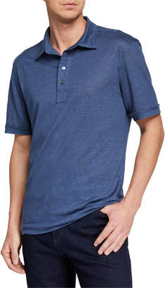 Ermenegildo Zegna Men's Linen Polo Shirt